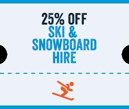 25% Off Ski Hire in Encamp